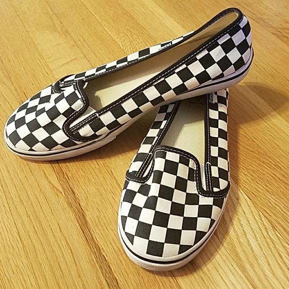 Vans Shoes | Vans Checkered Flats